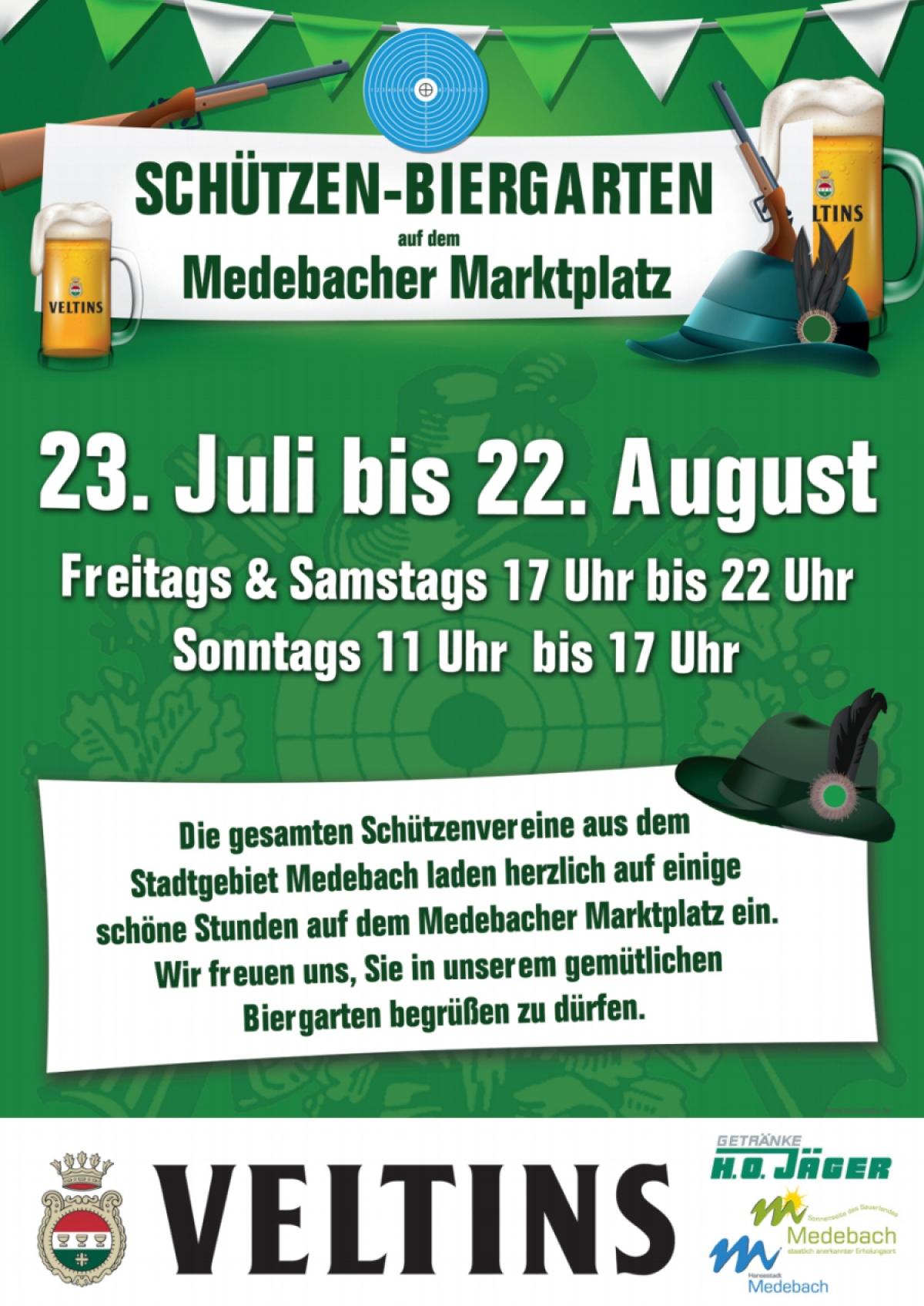 Schützen-Biergarten auf dem Marktplatz