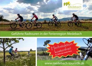 HERBSTAKTION: Geführte Mountainbike Touren KOSTENLOS