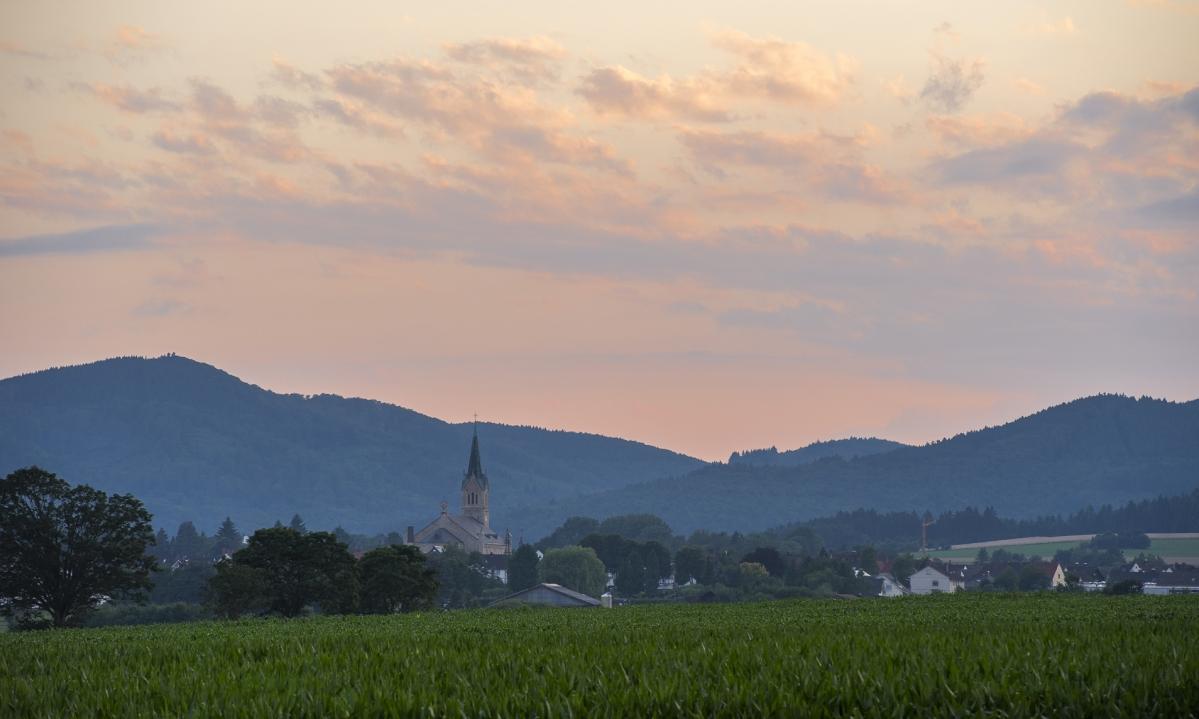Abendliches Panorama: Hansestadt Medebach