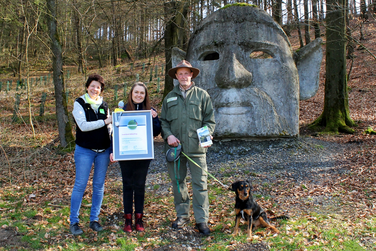 Nachzertifizierung des Sauerland-Höhenflugs ©Sauerland-Tourismus e.V. / Nadja Reh